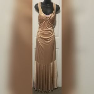 Gold formal cocktail gown